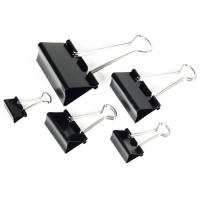 Kancelářský binder klip - 25 mm, černý, 12 ks