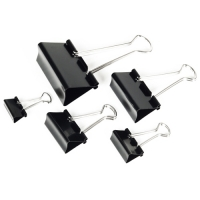 Kancelářský binder klip - 41 mm, černý, 12 ks