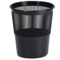 Odpadkový koš 11 l - perforovaný, plastový, černý