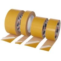 Oboustranná lepící páska - akrylát, 38x5 m, bílá transparentní