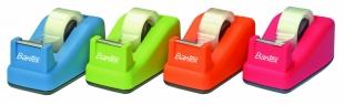 Odvíječ lepící pásky Bantex - 19x33 m, plastový, mix barev