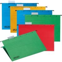Závěsná papírová deska Herlitz - A4, 230 g, mix barev, 5 ks