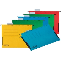 Závěsná papírová deska s bočnicemi Herlitz - A4, 230 g, mix barev, 5 ks