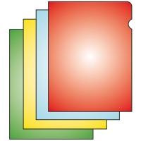 Zakládací obal L - A4, matný, 110 my, červený, 100 ks