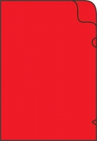 Zakládací obal L - A4, lesklý, 180 my, červený, 10 ks