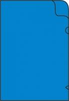 Zakládací obal L - A4, lesklý, 180 my, modrý, 10 ks