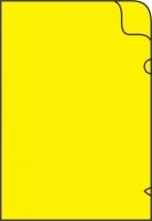 Zakládací obal L - A4, lesklý, 180 my, žlutý, 10 ks