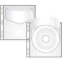 Prospektový obal na 1 CD - s klopou, matný, 115 my, transparentní, 10 ks