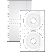 Prospektový obal na 2 CD - s klopou, matný, 115 my, transparentní, 10 ks