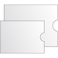 Obal na časové jízdenky - 110x140 mm, 120 my, transparentní, 100 ks