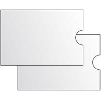 Obal na kreditní karty - 91x62 mm, 120 my, transparentní, 1 ks