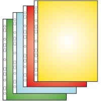 Prospektový obal U - A4 rozšířený, 23,5x30,5 cm, lesklý, 40 my, červený, 100 ks
