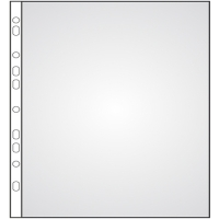 Prospektový obal U - A4 rozšířený, 22,5x30,5 cm, matný, 100 my, transparentní, 50 ks