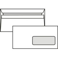 Poštovní obálka DL - s okénkem, samolepící, 110x220 mm, bílá, 1000 ks