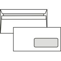 Poštovní obálka DL - s okénkem, samolepící, 110x220 mm, bílá, 50 ks