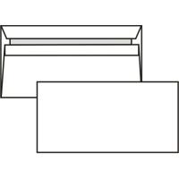 Poštovní obálka DL - bez okénka, samolepící, 110x220 mm, bílá, 1000 ks