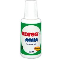 Opravný lak Kores Aqua - štěteček, 20 ml