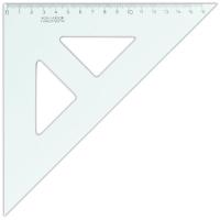 Plastové pravítko trojúhelník s ryskou - 16 cm, transparentní