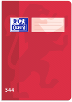Školní sešit 544 Oxford - A5, linkovaný, 40 listů, červený