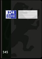 Školní sešit 545 Oxford - A5, čtverečkovaný, 40 listů, černý