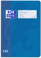 Školní sešit 545 Oxford - A5, čtverečkovaný, 40 listů, modrý