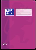 Školní sešit 545 Oxford - A5, čtverečkovaný, 40 listů, fialový