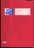 Školní sešit 545 Oxford - A5, čtverečkovaný, 40 listů, červený