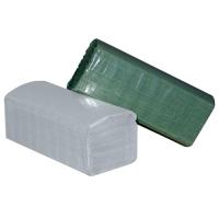 Skládaný papírový ručník ZZ - 23x25 cm, jednovrstvý, recykl, šedý, 5000 ks