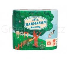 Toaletní papír Harmasan 4 - dvouvrstvý, recykl, návin 20,5 m, 4 role
