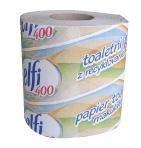 Toaletní papír 400/1 - jednovrstvý, recykl, 400 útržků, 64 rolí