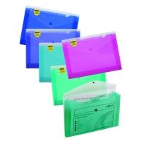 Spisové desky s drukem A4 - 3 kapsy, plastové, mix barev