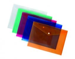 Spisové desky A4 - s drukem, plastové, transparentní zelené