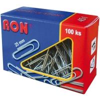 Kancelářské sponky RON 451 - 25 mm, pozinkované, 100 ks