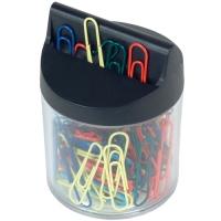 Barevné kancelářské sponky v magnetickém zásobníku RON 453B - 32 mm, mix barev, 100 ks