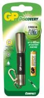 Kovová LED svítilna GP - závěsná, na 1x AAA, stříbrná