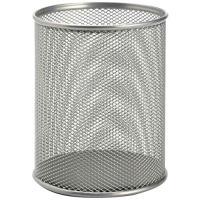 Drátěný kalíšek na tužky MAXI - rozšířený, stříbrný