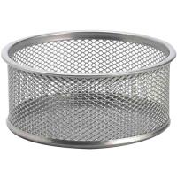 Drátěný kalíšek na sponky - rozšířený, stříbrný