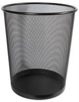 Drátěný odpadkový koš 19 l - velký, černý
