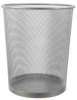 Drátěný odpadkový koš 19 l - velký, stříbrný