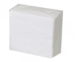 Papírové ubrousky - 33x33 cm, jednovrstvé, 100% celulóza, bílé, 100 ks