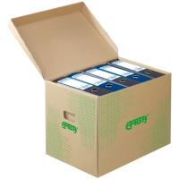 Archivační kontejner Emba - 425x330x300 mm, lepenka, hnědý