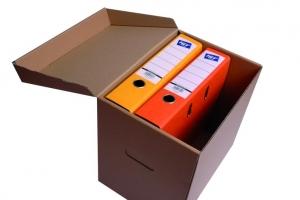 Archivační box - 330x240x300 mm, hnědý