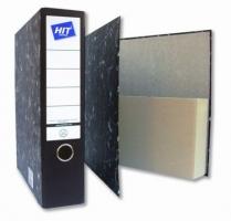 Archivní pořadač A4 Hit - 8 cm, karton, složený, černý mramor