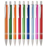 Kuličkové pero Renza - 0,7 mm, kovové, mix barev