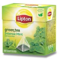 Zelený čaj Lipton - pyramidový, intense mint, 20 sáčků