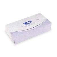 Kosmetické kapesníčky Hyg-Soft - v krabičce, dvouvrstvé, 100% celulóza, 100 ks