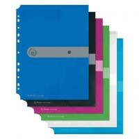 Spisové desky s drukem A5 Easy Orga - transparentní, modré - DOPRODEJ