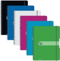 Kroužkový college blok Easy Orga A4 - čtverečkovaný, transparentní modrý, 80 listů - DOPRODEJ