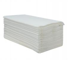 Skládaný papírový ručník ZZ - 23x25 cm, jednovrstvý, 100% celulóza, 4000 ks