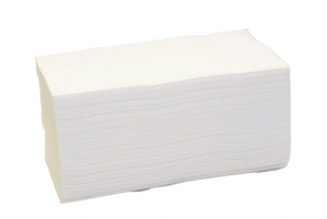 Skládaný papírový ručník ZZ - 23x25 cm, dvouvrstvý, 100% lepená celulóza, 3000 ks